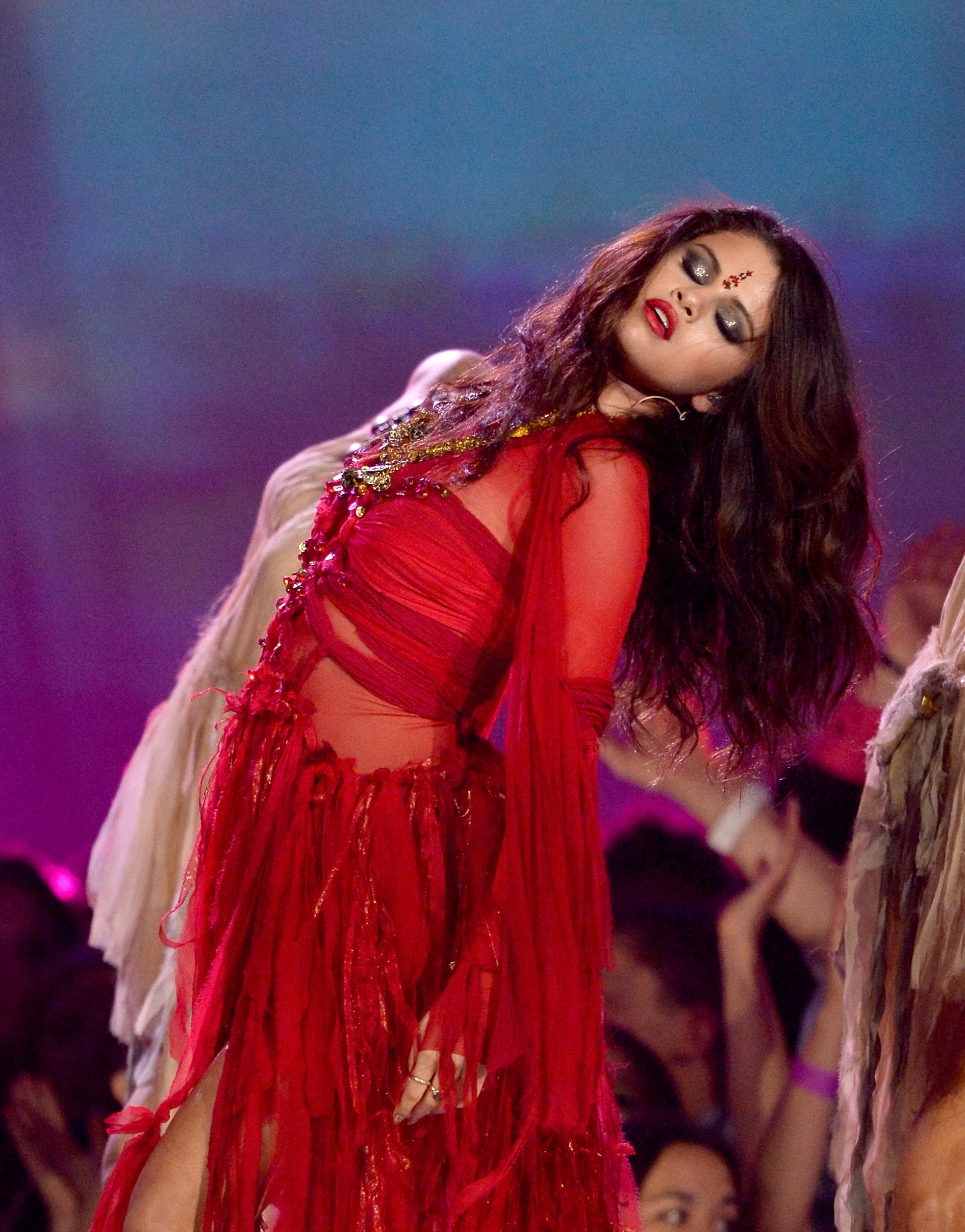 Penampilan Selena Gomez di MTV Movie Awards 2013 Foto: sawfirst.com